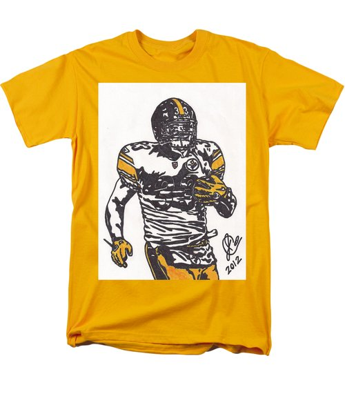 Men's T-Shirt  (Regular Fit) featuring the drawing Isaac Redman by Jeremiah Colley