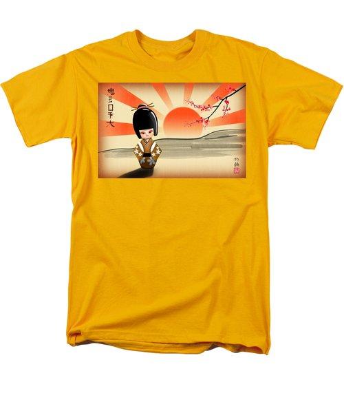 Japanese Kokeshi Doll Men's T-Shirt  (Regular Fit) by John Wills