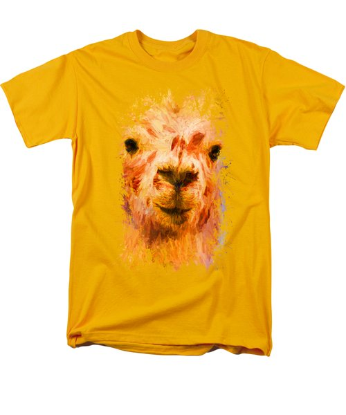 Jazzy Llama Colorful Animal Art By Jai Johnson Men's T-Shirt  (Regular Fit) by Jai Johnson