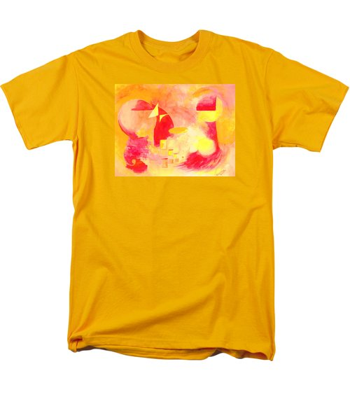 Men's T-Shirt  (Regular Fit) featuring the painting Joyful Abstract by Andrew Gillette