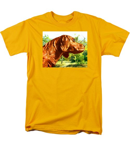 Junior's Hunting Dog Men's T-Shirt  (Regular Fit) by Timothy Bulone