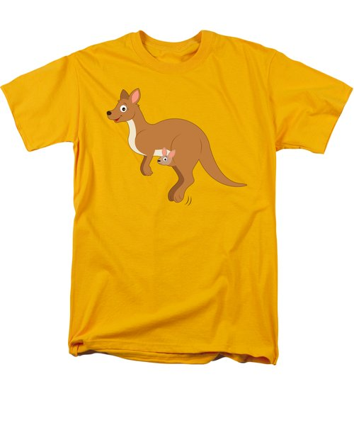 Mamma Kangaroo And Joey Men's T-Shirt  (Regular Fit) by A
