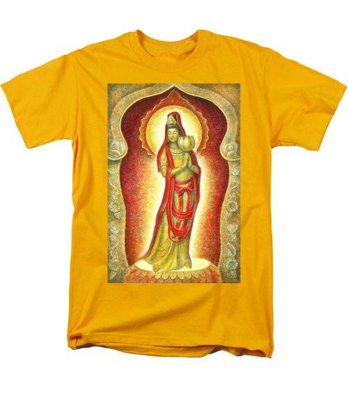 Kuan Yin Lotus Men's T-Shirt  (Regular Fit) by Sue Halstenberg