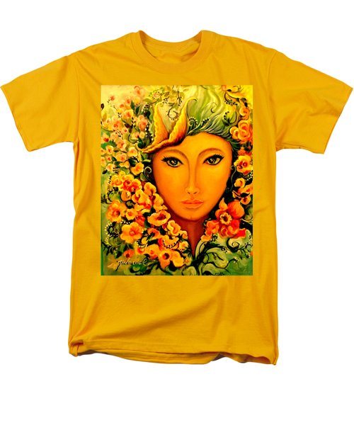 Men's T-Shirt  (Regular Fit) featuring the painting Lady Sring by Yolanda Rodriguez