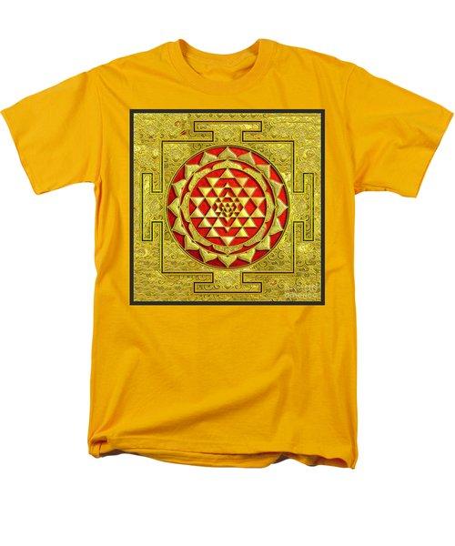 Lakshmi Kubera Yantra Men's T-Shirt  (Regular Fit) by Ragunath Venkatraman