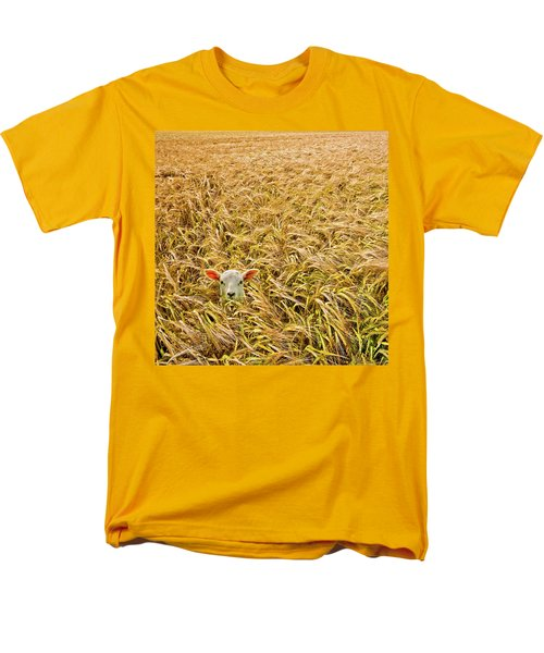Lamb With Barley Men's T-Shirt  (Regular Fit) by Meirion Matthias
