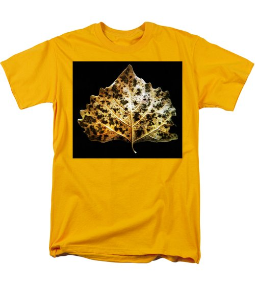 Leaf With Green Spots Men's T-Shirt  (Regular Fit) by Joseph Frank Baraba