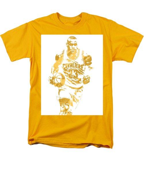 Lebron James Cleveland Cavaliers Pixel Art 7 Men's T-Shirt  (Regular Fit) by Joe Hamilton