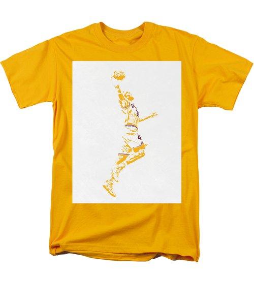 Lebron James Cleveland Cavaliers Pixel Art Men's T-Shirt  (Regular Fit) by Joe Hamilton