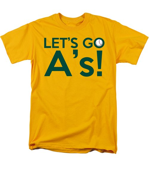 Let's Go A's Men's T-Shirt  (Regular Fit) by Florian Rodarte