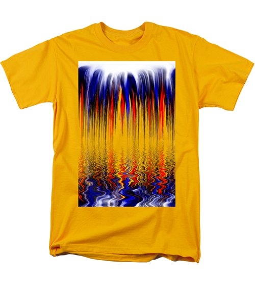 Men's T-Shirt  (Regular Fit) featuring the digital art Liquid Overflow By Kaye Menner by Kaye Menner