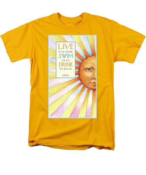 Men's T-Shirt  (Regular Fit) featuring the painting Live In The Sunshine by Lora Serra