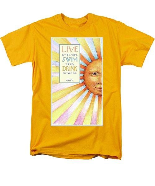 Live In The Sunshine Men's T-Shirt  (Regular Fit) by Lora Serra