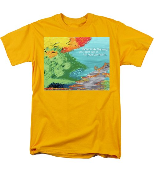 Love Like The Wind Men's T-Shirt  (Regular Fit) by Cyrionna The Cyerial Artist