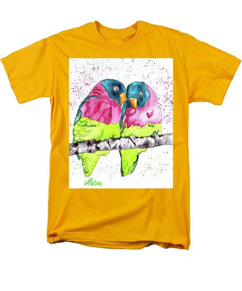 Men's T-Shirt  (Regular Fit) featuring the painting Lovebirds by D Renee Wilson