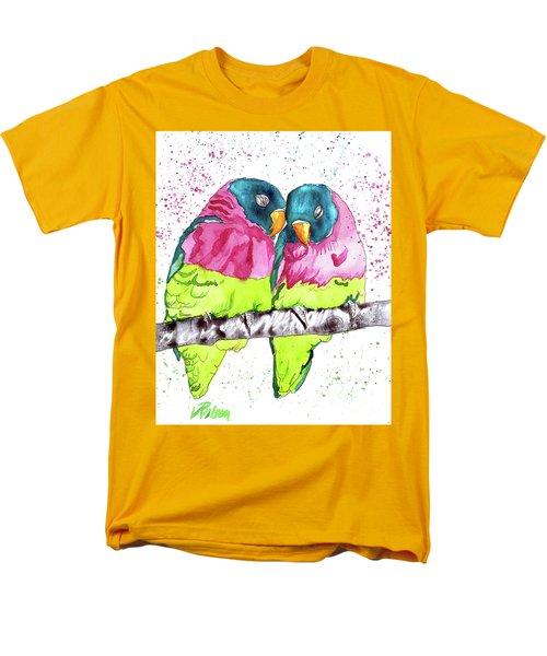 Lovebirds Men's T-Shirt  (Regular Fit) by D Renee Wilson