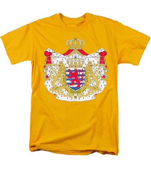 Men's T-Shirt  (Regular Fit) featuring the drawing Luxembourg Coat Of Arms by Movie Poster Prints