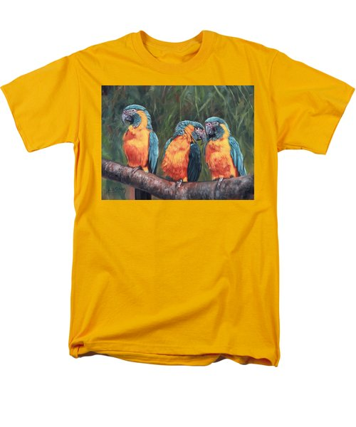 Men's T-Shirt  (Regular Fit) featuring the painting Macaws by David Stribbling