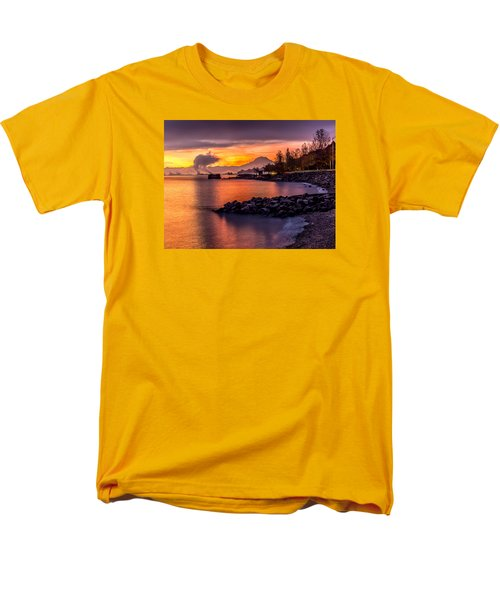Men's T-Shirt  (Regular Fit) featuring the photograph Magical Sunrise On Commencement Bay by Rob Green