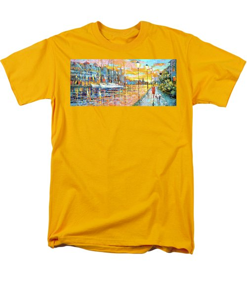 Men's T-Shirt  (Regular Fit) featuring the painting Magical Sunset by Dmitry Spiros