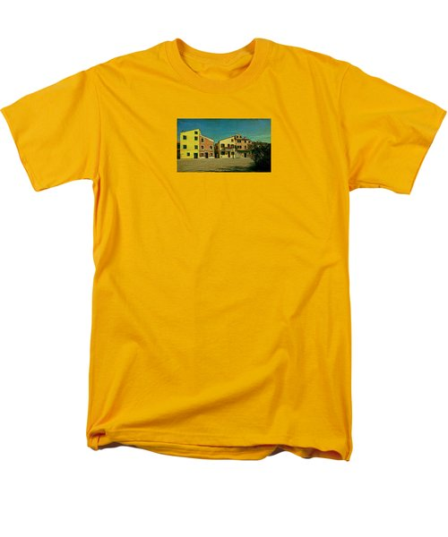 Men's T-Shirt  (Regular Fit) featuring the photograph Malamocco Main Street No1 by Anne Kotan