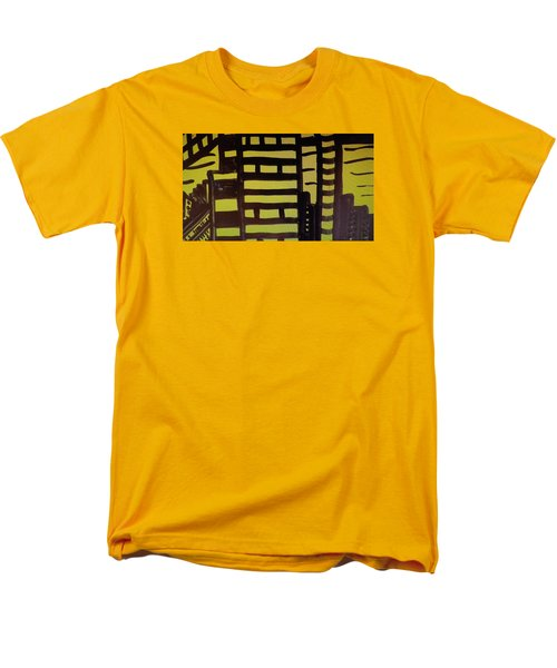 Men's T-Shirt  (Regular Fit) featuring the painting Manhattan Sunrise 2 by Don Koester