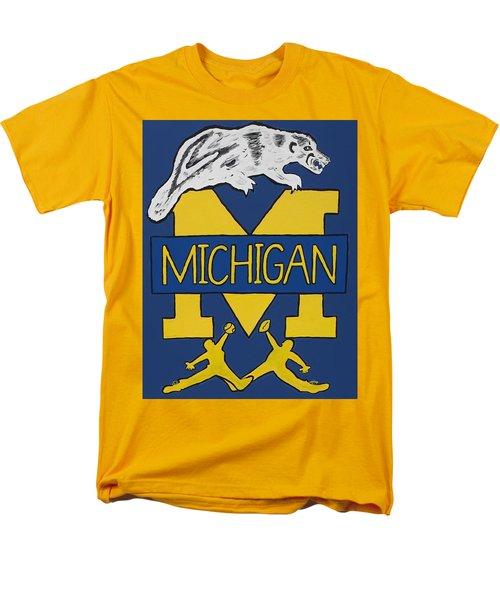 Michigan Wolverines Men's T-Shirt  (Regular Fit) by Jonathon Hansen