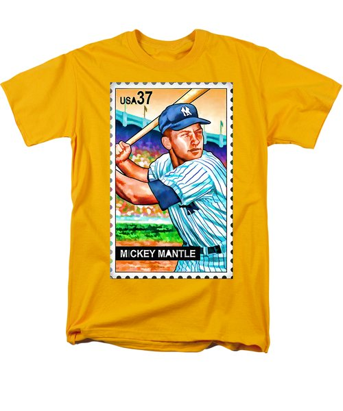 Mickey Mantle Men's T-Shirt  (Regular Fit) by Lanjee Chee