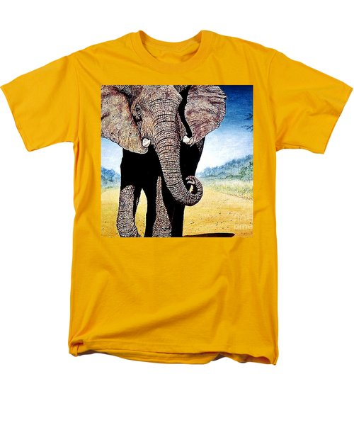 Mighty Elephant Men's T-Shirt  (Regular Fit) by Hartmut Jager
