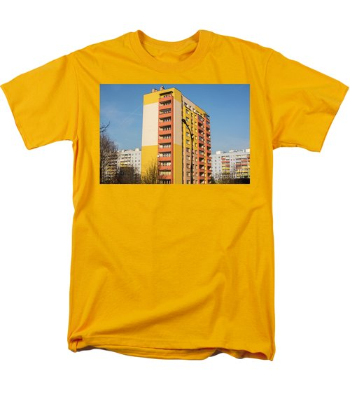 Men's T-Shirt  (Regular Fit) featuring the photograph Modern Apartment Buildings by Juli Scalzi