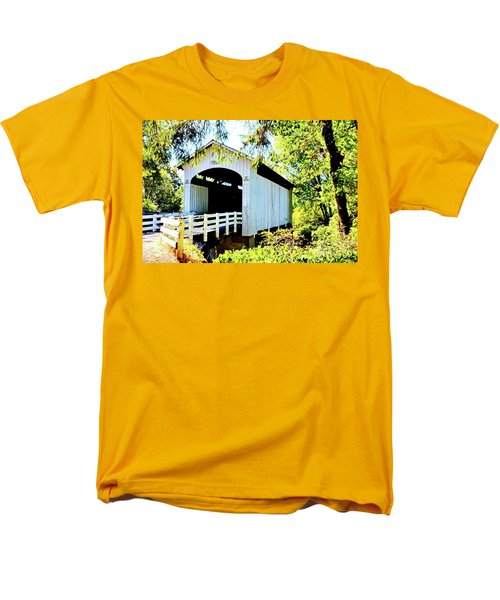 Mosbey Creek Stewart Covered Bridge Men's T-Shirt  (Regular Fit) by Ansel Price