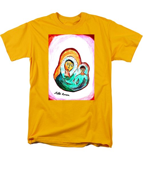 Mother And Child Men's T-Shirt  (Regular Fit) by Ramona Matei