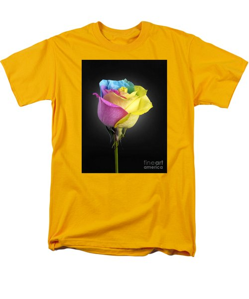 Rainbow Rose 1 Men's T-Shirt  (Regular Fit) by Tony Cordoza