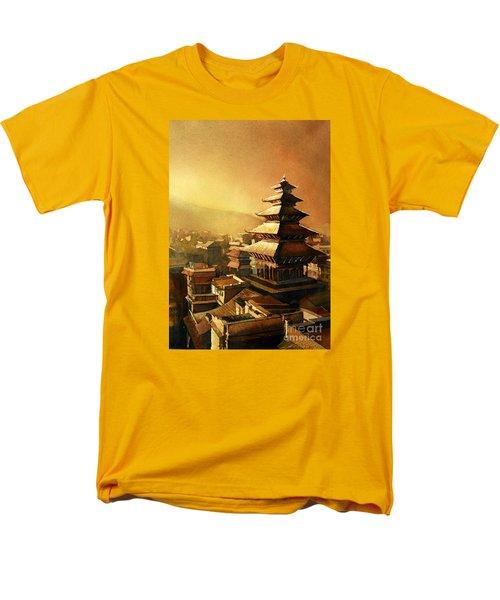 Nepal Temple Men's T-Shirt  (Regular Fit)