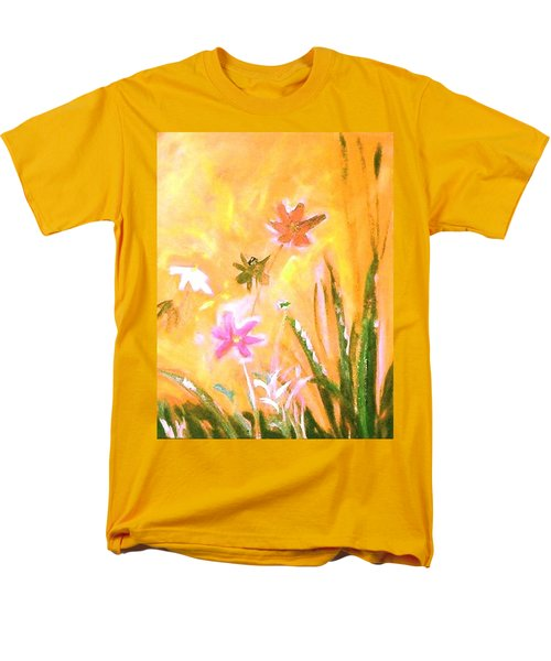 New Daisies Men's T-Shirt  (Regular Fit) by Winsome Gunning