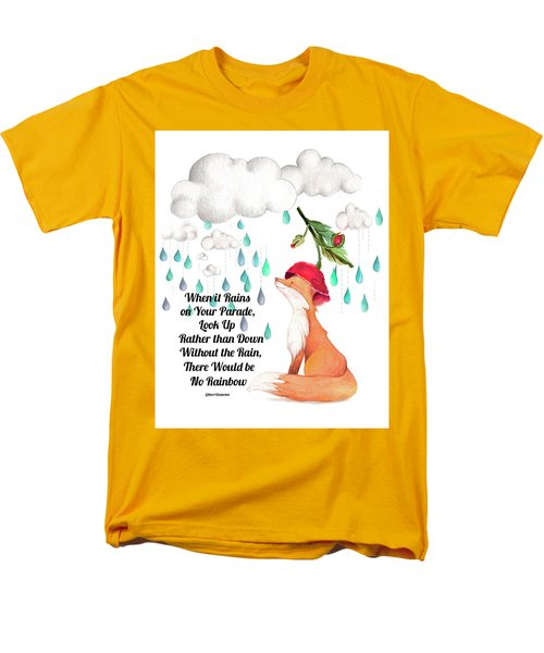 Men's T-Shirt  (Regular Fit) featuring the digital art No Rain On My Parade by Colleen Taylor