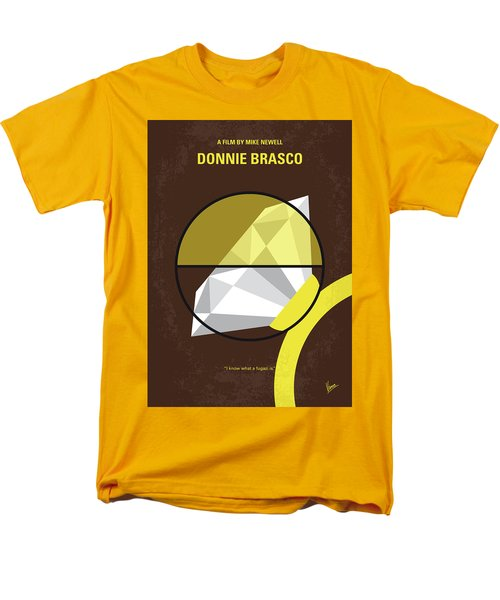 Men's T-Shirt  (Regular Fit) featuring the digital art No766 My Donnie Brasco Minimal Movie Poster by Chungkong Art