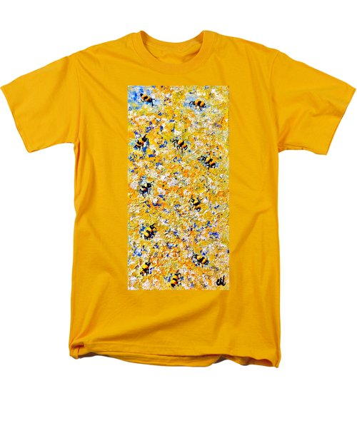 Men's T-Shirt  (Regular Fit) featuring the painting Ode To Bees.. by Cristina Mihailescu
