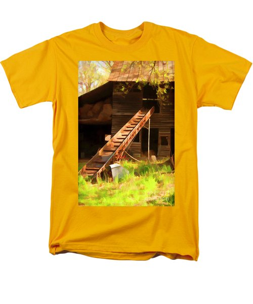 Old North Carolina Barn And Rusty Equipment   Men's T-Shirt  (Regular Fit) by Wilma Birdwell