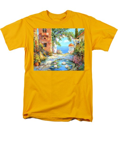 Men's T-Shirt  (Regular Fit) featuring the painting Old Yard  by Dmitry Spiros
