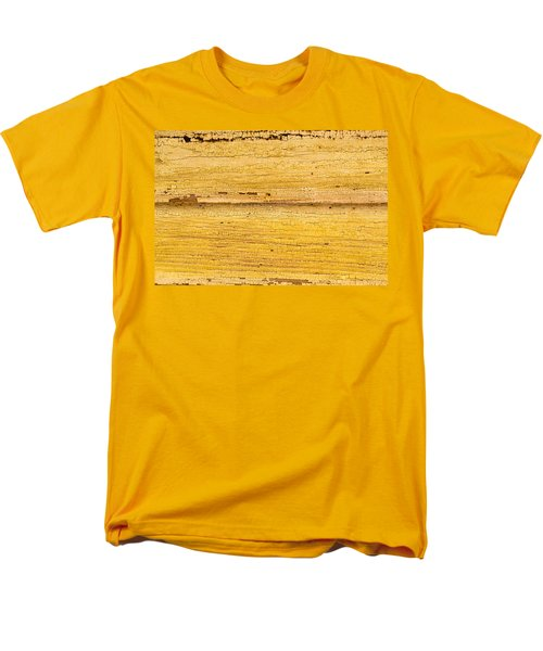 Men's T-Shirt  (Regular Fit) featuring the photograph Old Yellow Paint On Wood by John Williams