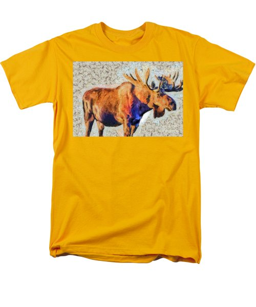 One Handsome Moose Men's T-Shirt  (Regular Fit) by Elaine Ossipov