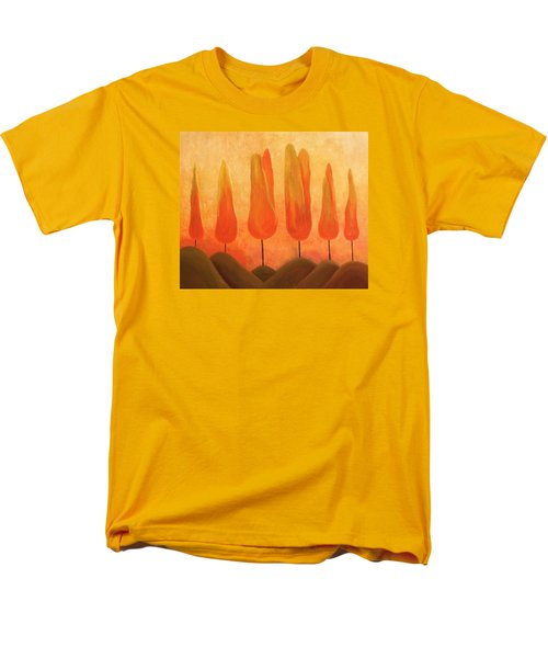Men's T-Shirt  (Regular Fit) featuring the painting One Treeperhill by John Stuart Webbstock