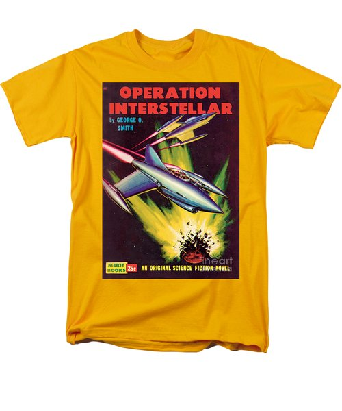Men's T-Shirt  (Regular Fit) featuring the painting Operation Interstellar by Malcolm Smith