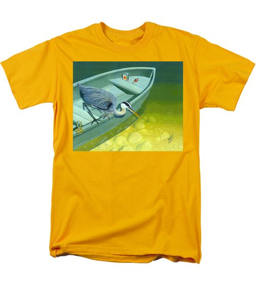 Opportunity-the Great Blue Heron Men's T-Shirt  (Regular Fit) by Gary Giacomelli