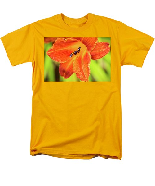 Orange Lilly Of The Morning Men's T-Shirt  (Regular Fit) by Ken Stanback