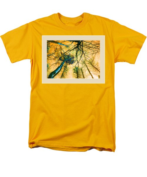Men's T-Shirt  (Regular Fit) featuring the photograph Orange Sky Tree Tops by Felipe Adan Lerma