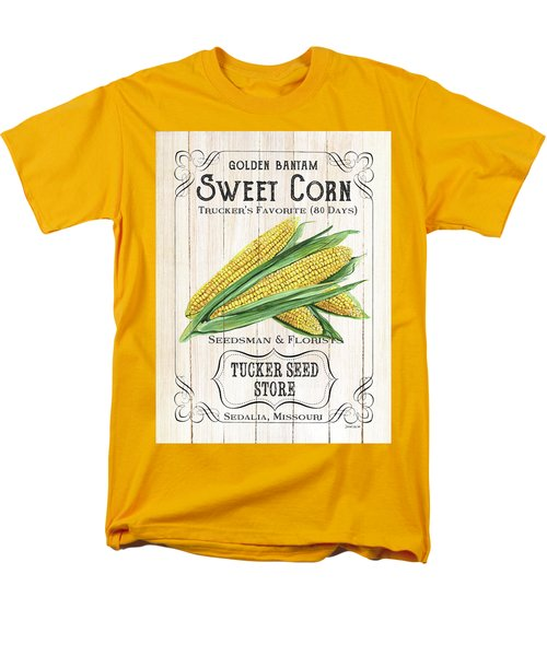 Men's T-Shirt  (Regular Fit) featuring the painting Organic Seed Packet 4 by Debbie DeWitt