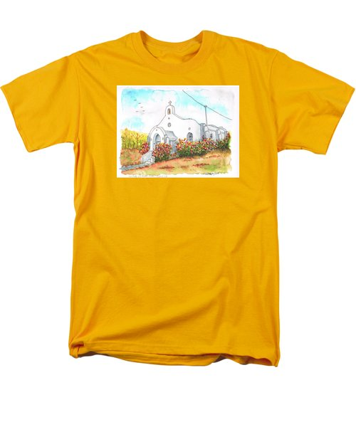 Our Lady Of Mount Carmel Catholic Church, Carmel,california Men's T-Shirt  (Regular Fit) by Carlos G Groppa