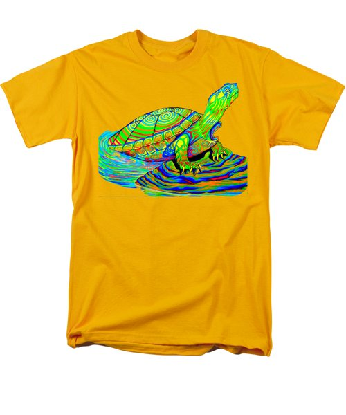 Painted Turtle Men's T-Shirt  (Regular Fit) by Rebecca Wang